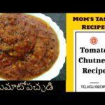 Tomato Chutney Recipe in Telugu || టమాటో పచ్చడి || #MomsTastyRecipes